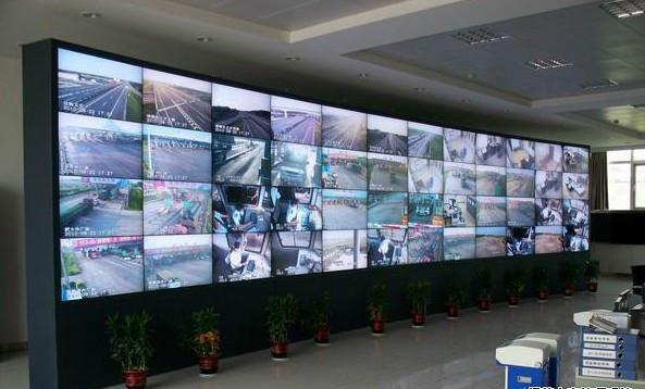 贵阳农村信用社4X12液晶拼接项目安装调试成功
