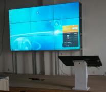 重庆工商学校55寸3x3大屏拼接教学显示系统