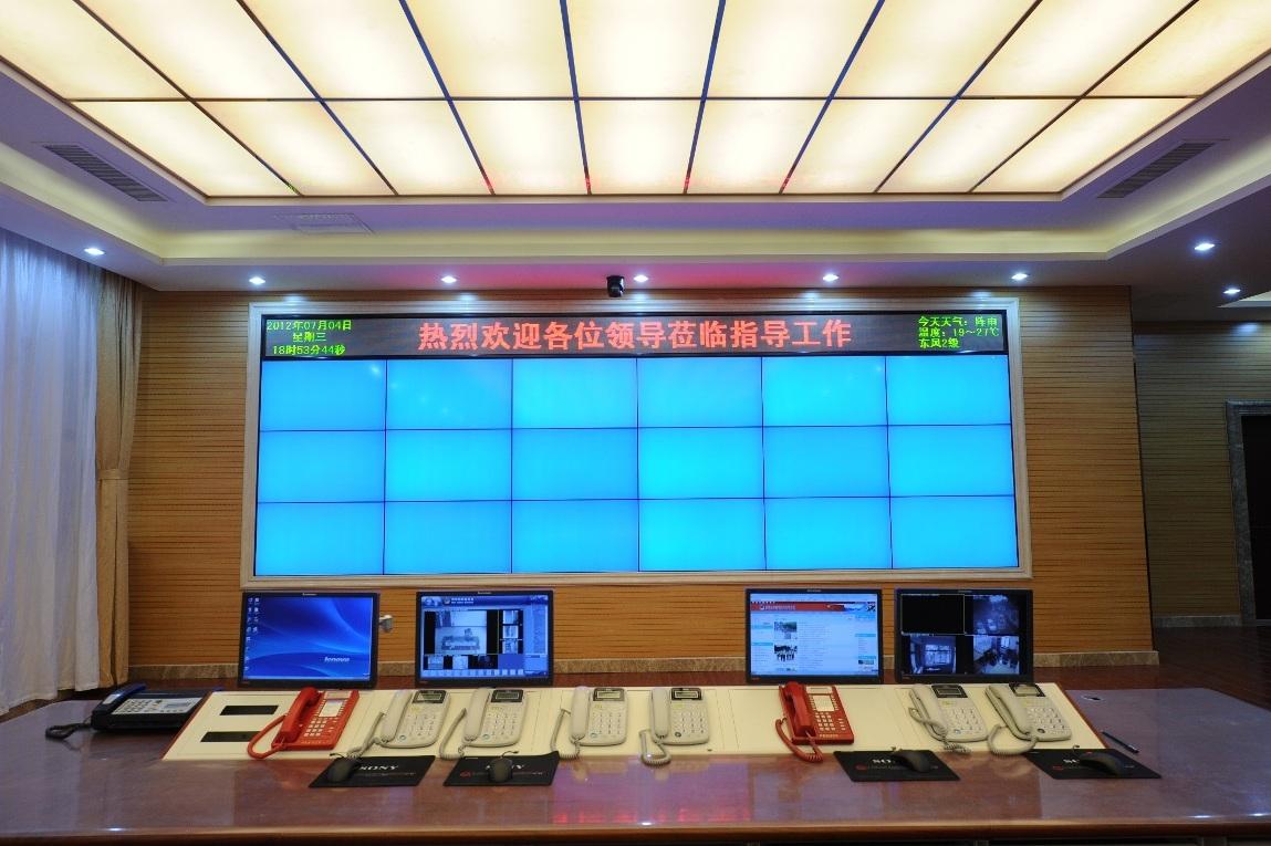 杨凌职业技术考场液晶拼接墙项目